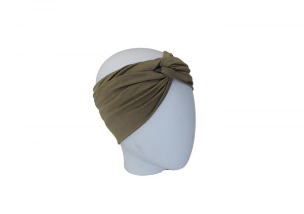 Stirnband Bambusjersey Oliv