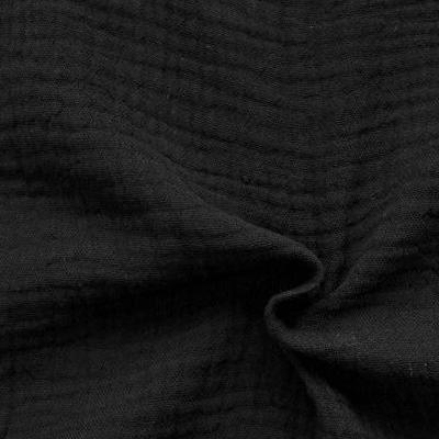 Muster Musselin Schwarz