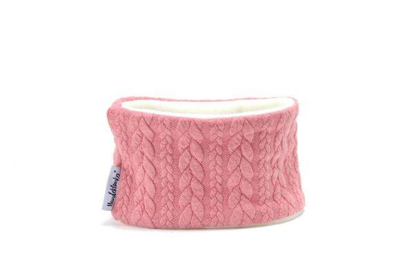 Loop für den Hund- Strick rosa