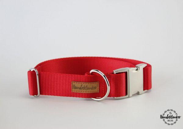 Halsband Uni Rot