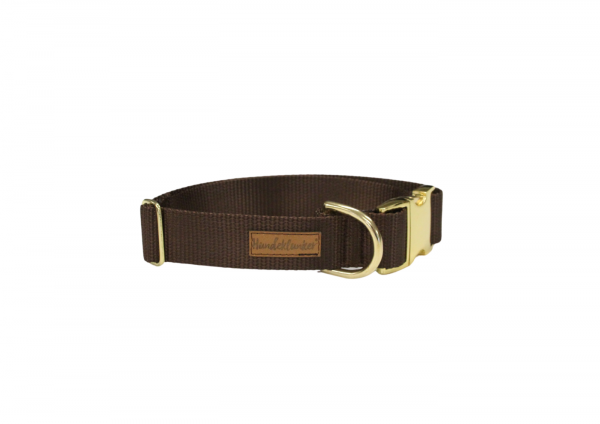 Halsband Uni Braun GOLD