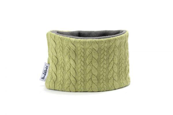 Loop für den Hund- Strick grün