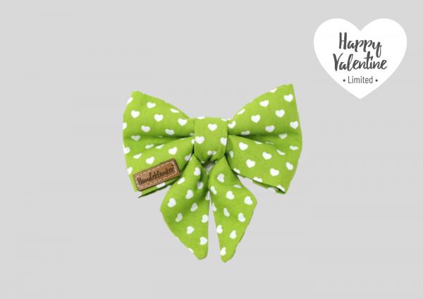 Schleife Happy Valentine grün