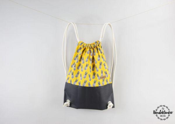 Hundeklunker Rucksack mit Muster Ananas