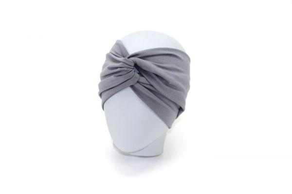 Stirnband Bambusjersey Hellgrau