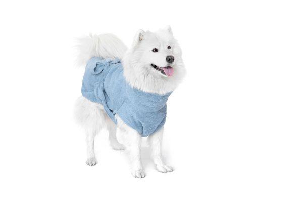 """Hundebademantel aus Bio-Baumwolle """"Ocean Blue"""""""