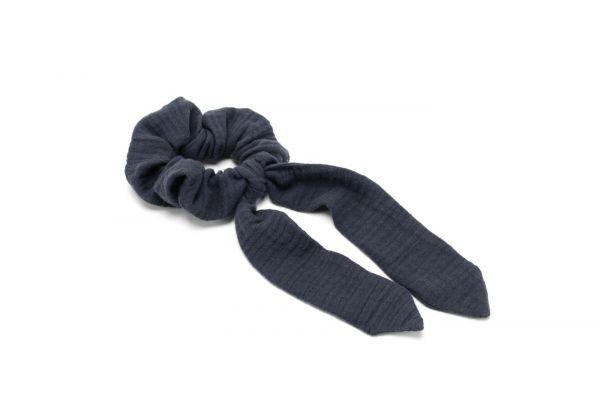 Scrunchie // Haarband mit Schleifenband // Musselin Stone