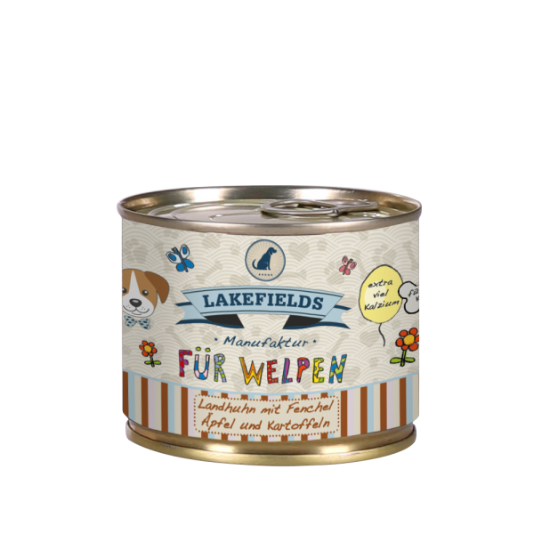 LAKEFIELDS Dosenfleisch Menü HUHN 6 x 200 g für Welpen