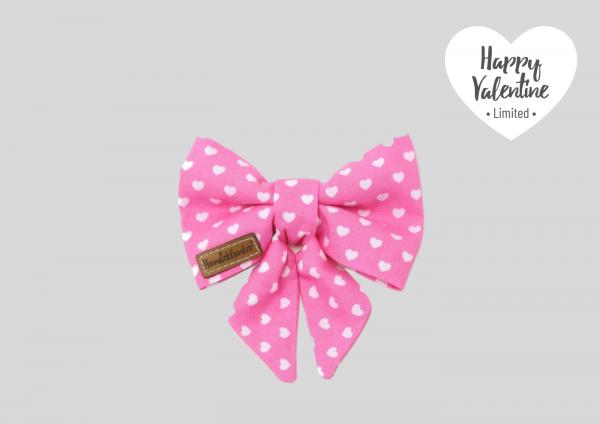 Schleife Happy Valentine rosa