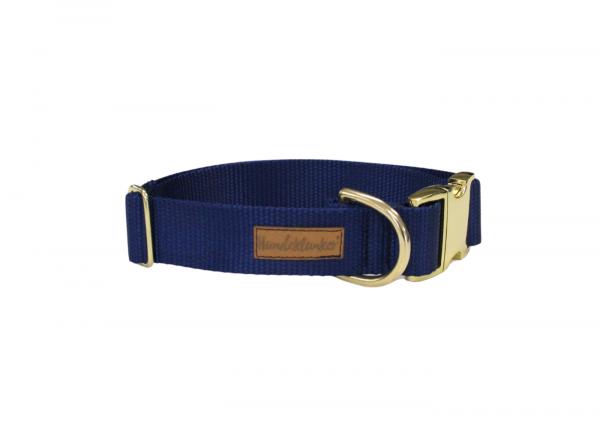 Halsband Uni Blau GOLD