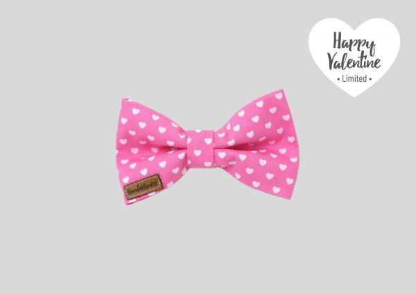 Fliege Happy Valentine rosa