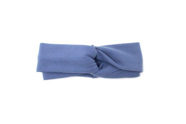 Stirnband Jerseycord Mittelblau