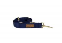 Leine Uni Blau GOLD Large: 2 m, 3 Fach- verstellbar
