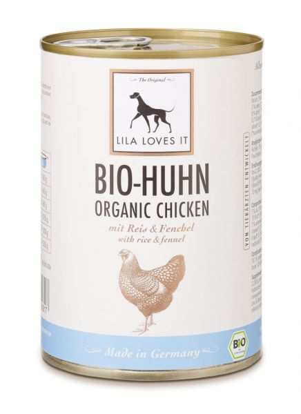 Bio-Huhn mit Reis Dose 400g