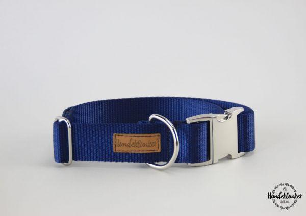Halsband Uni Blau SILBER