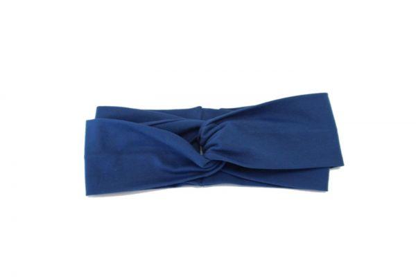 Stirnband Jersey Blau