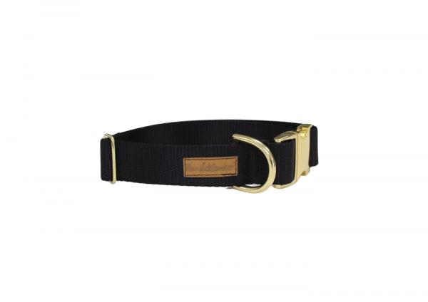 Halsband Uni Schwarz GOLD