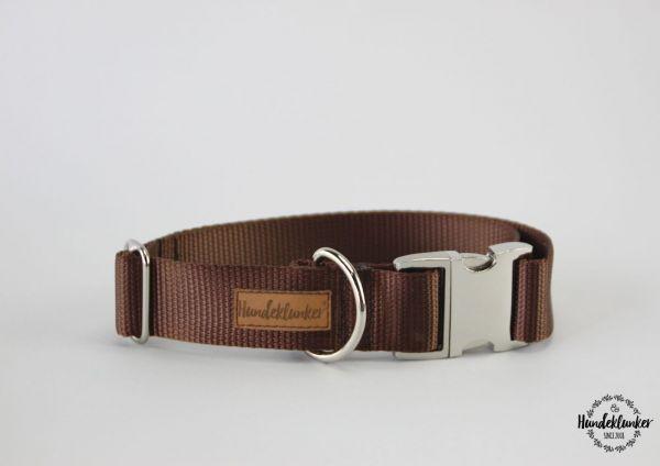 Halsband Uni Braun