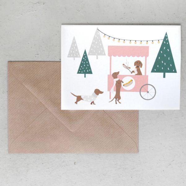 Grußkarte // Weihnachts Bratwurstl