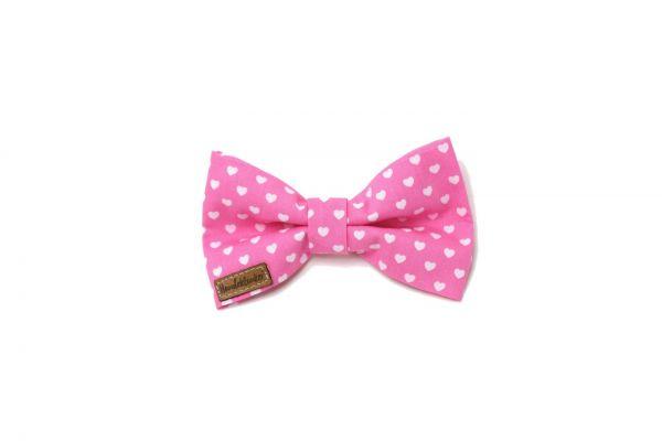 Fliege Valentin rosa