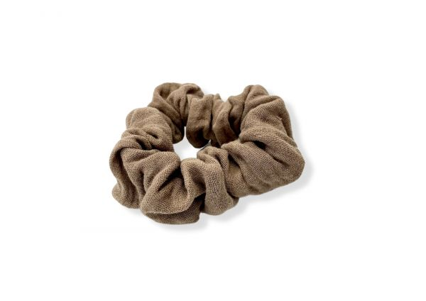 Scrunchie // Haarband // Musselin Taupe