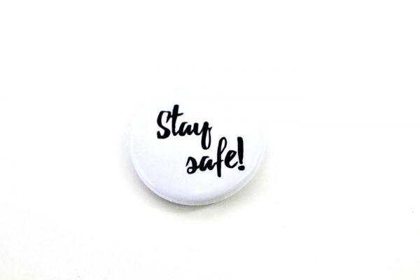 Soli Button // Stay safe!