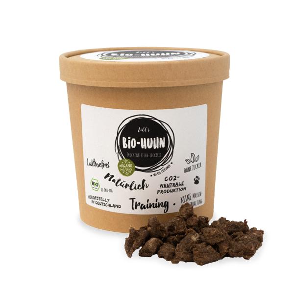 Bio-Huhn // Trockenfleisch Leckerlis mit Bio-Chiasamen