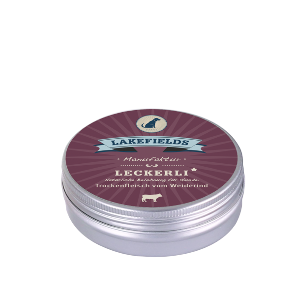 LAKEFIELDS Leckerlidose RIND 50 g