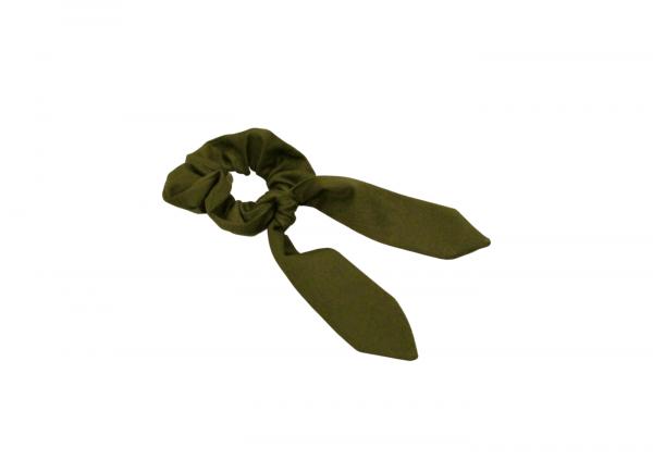 Scrunchie // Haarband mit Schleifenband // Pine Green