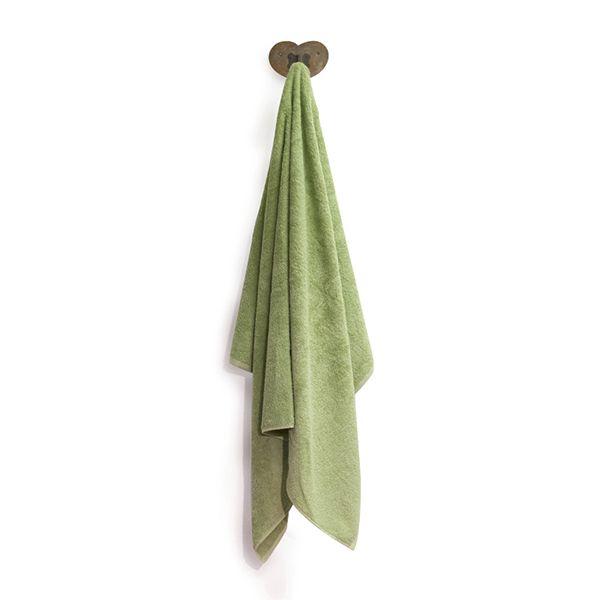 "Badetuch aus Bio-Baumwolle 100cm x 150cm ""Green Leaf"""